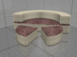 3D model of a round bed Kalinka