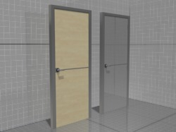 3D model of the doors with aluminum edging