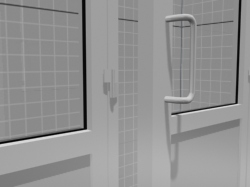 3D model of the plastic door