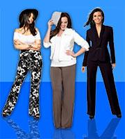 Готовая выкройка женских брюк больших размеров