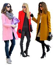 Выкройка пальто прямого кроя в трех размерах