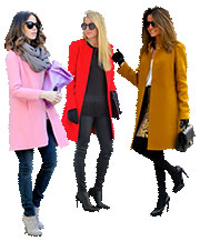 Выкройка пальто прямого кроя 88-70-94