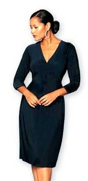 Готовая выкройка платья для полных женщин Ог 100–122 см