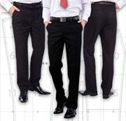 Готовая выкройка мужских классических брюк