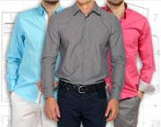Выкройка мужской сорочки в четырех размерах
