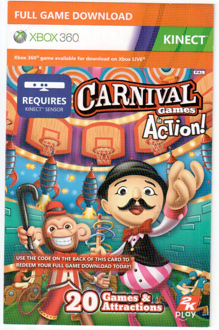 Kinect game Carnival games in action donwload code скан