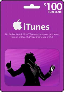 iTunes Gift Card $100 (USA)
