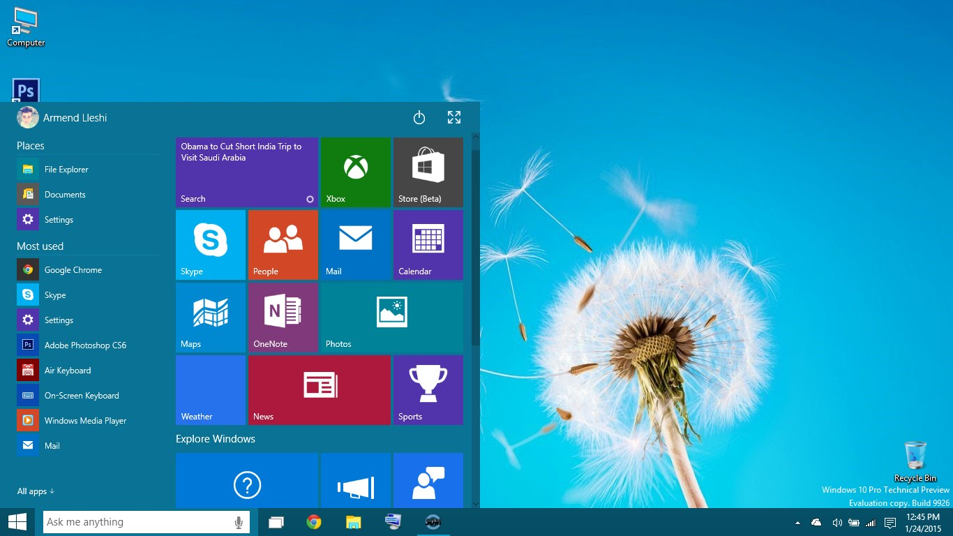 Windows 10 Professional full + Office 365 Pro