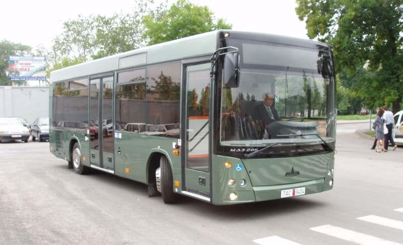 Электротехнические схемы автобуса МАЗ 206(085)