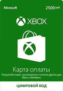 Xbox Live - payment card 2500 rubles (Russian).