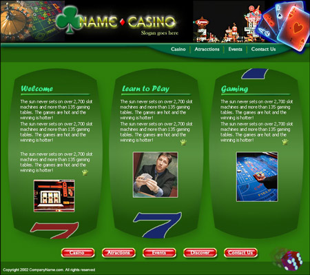 Website template (Casino)
