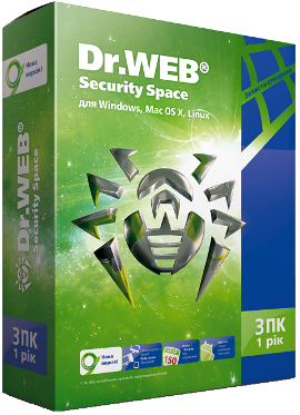 Dr.Web Security Space 1 Year 3 PC + 3 mob REG FREE