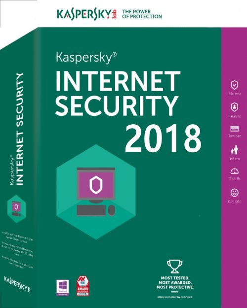 Kaspersky Internet Security 2017-2018 1 PC 1 Year