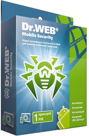 Dr.Web Mobile Security 1 Year 1 device Region FREE