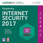 Kaspersky Internet Security 2017-2018 1ПК 1Год REG FREE