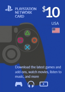 PlayStation Network 10 USD PSN CARD US