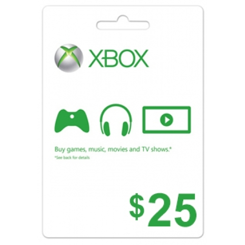 XBOX Live 25 USD Card US (ФОТО КАРТЫ)