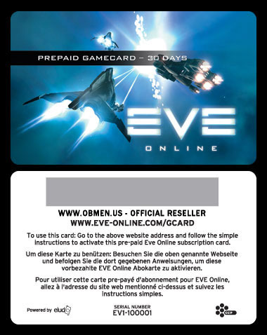 Eve-online - Time Card (30 дней) - офф. дилер