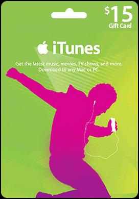 Купить iTunes USA 15$ Gift Card - Карта пополнения iTunes