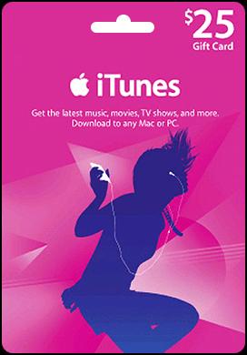 Купить iTunes USA 25$ Gift Card - Карта пополнения iTunes