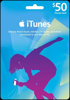 Купить iTunes USA 50$ Gift Card - Карта пополнения iTunes