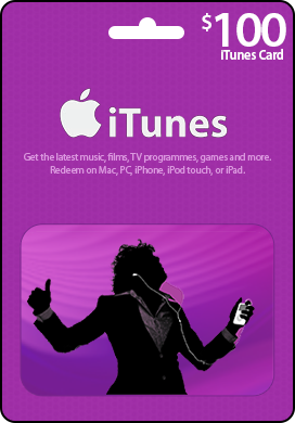 z_iTunes USA 100 $ Gift Card - recharge card iTunes