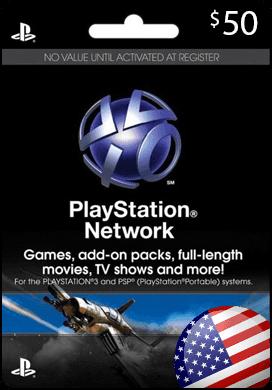 Купить PSN - USA - Карта пополнения на 50$ + Скидки