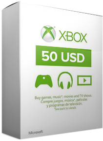 Купить xBox Live! - US - 50 USD Gift Card
