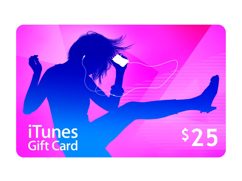 iTUNES GIFT CARD - 25$ - (USA/SCAN) Best price!!!