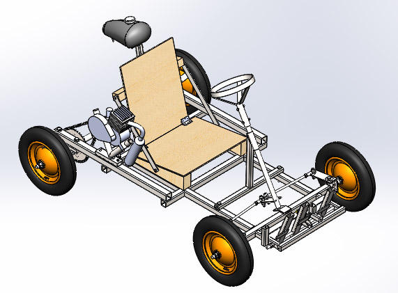 Solid Works go-kart assembly