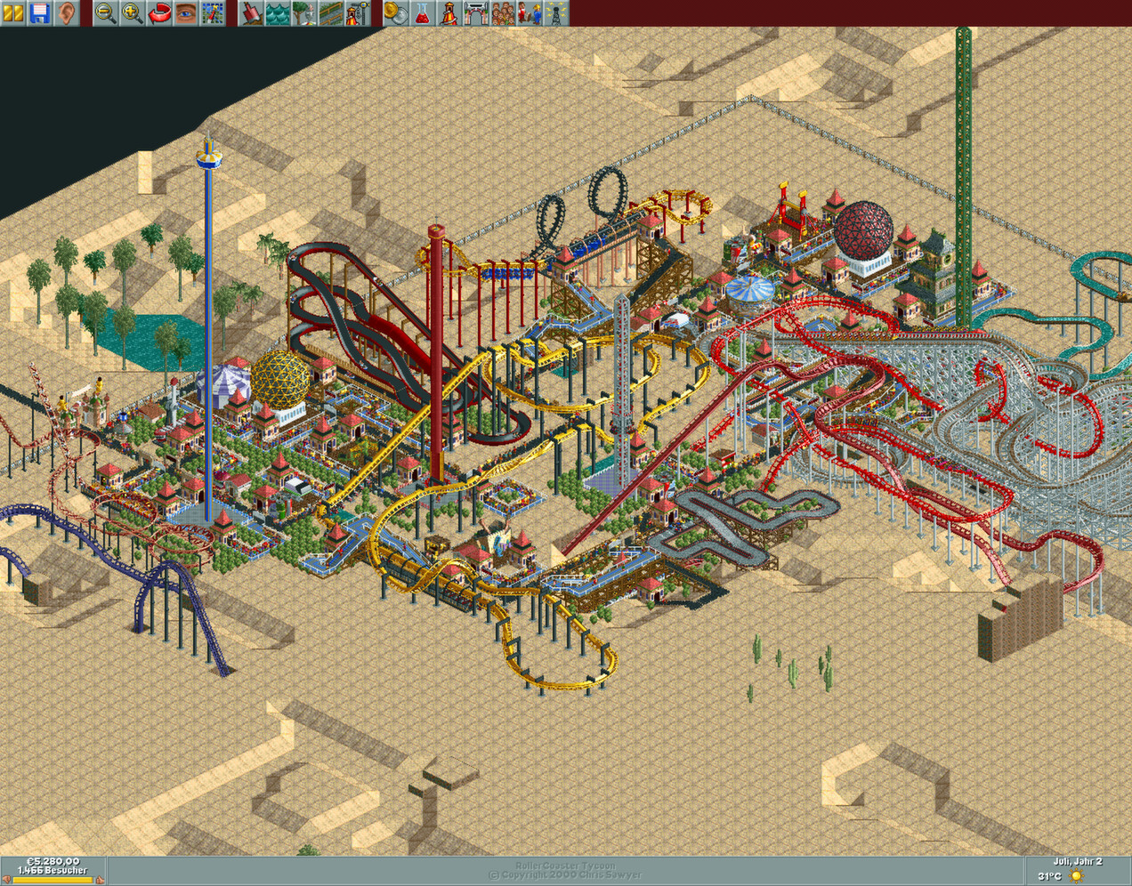 Rollercoaster tycoon (1999) pc review and full download | old pc.