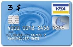 3$ Visa Virtual Card