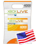 Xbox - USA - Prepaid Card - 4000 points, СКИДКИ