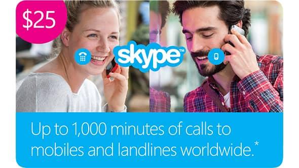 25 USD Skype код - Redeem Skype.com
