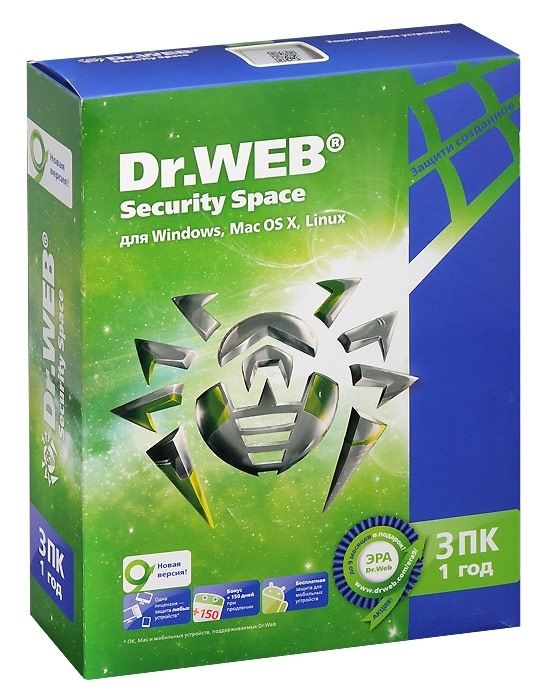3 месяцев Dr Web Space Security License