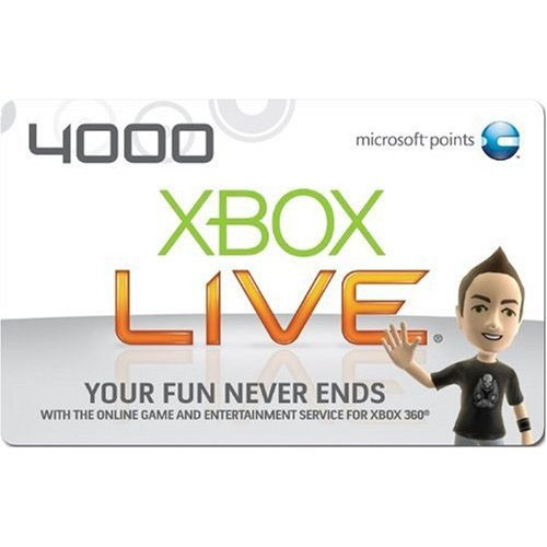 4000 points Xbox LIVE - USA - СКИДКИ