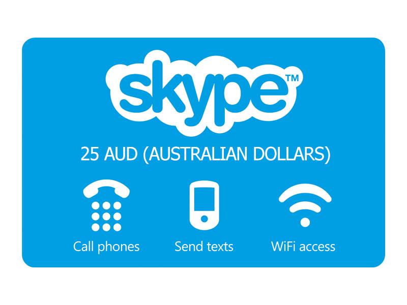 25 AUD Skype OUT (Австралийские доллары)