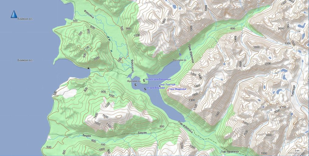 Vector map of Pribaikalye TOPO