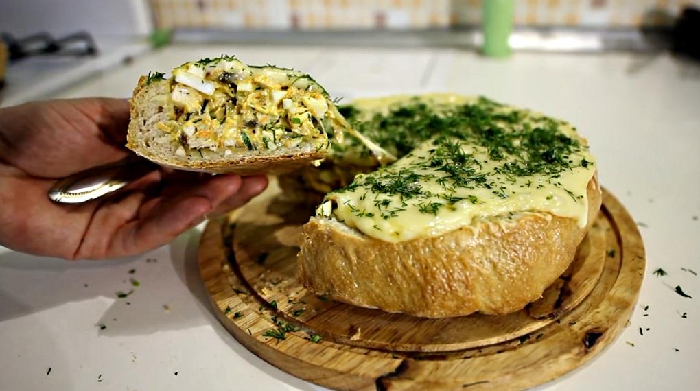 Фаршированный хлеб