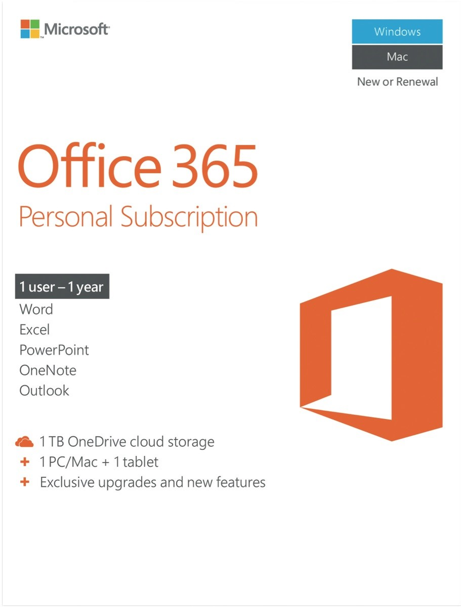 Office 365 Personal 1 macOS + 1 Tablet