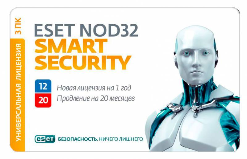 ESET NOD32 Smart Security - Renewal 3 PC  20 months