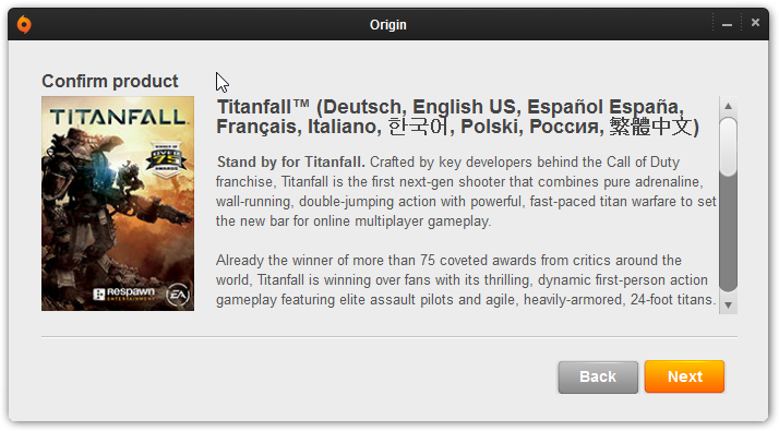 Titanfall EU Origin (REGION FREE/MULTI LANGUAGE)