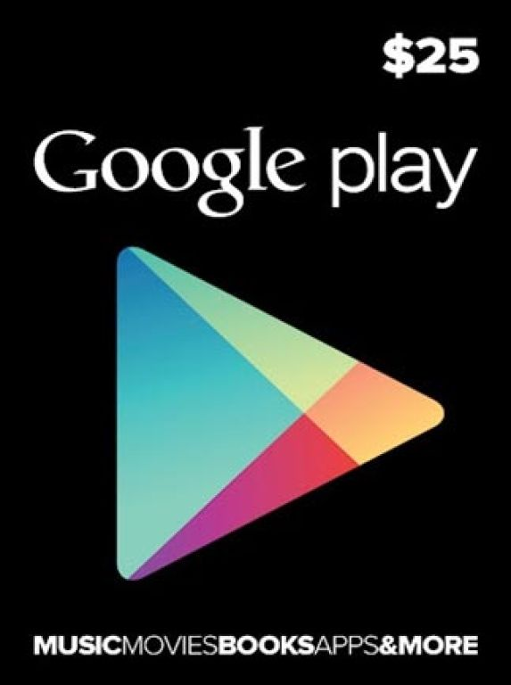 Google Play 25 USD Gift Card US