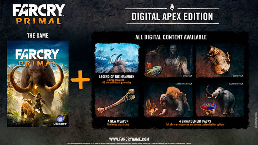Far Cry Primal DIGITAL APEX ED.+4SET