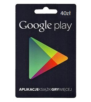 Google Play 40 PLN zt - Gift Card POLAND