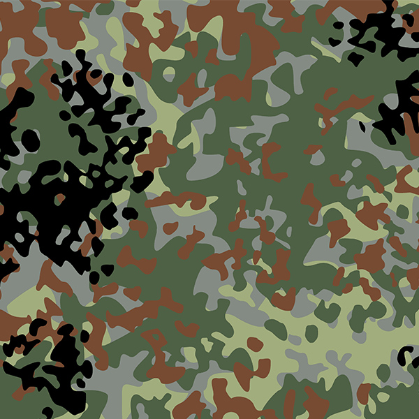 Set stencils for camouflage Flecktarn/Tropentarn