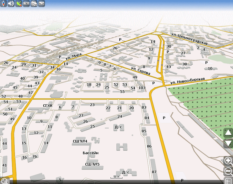 GPS-maps (2014) of the city of Stepnogorsk, Kazakhstan