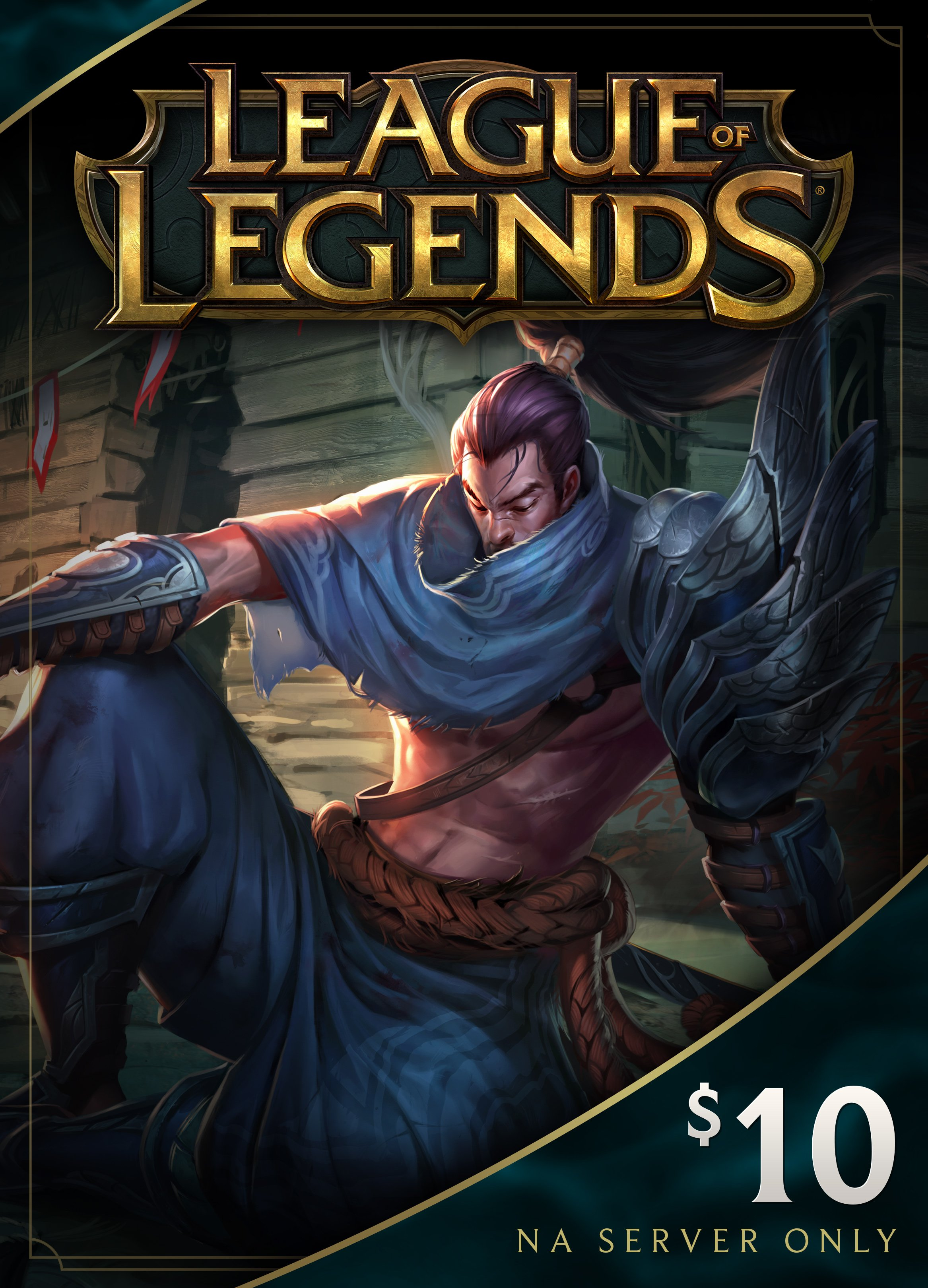 League of Legends $10 Card 1380 Riot Points NA only