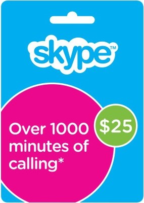 The original Skype voucher 25 USD
