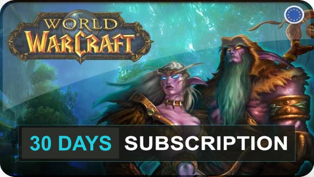 World of Warcraft 30 days Time Card Prepaid EU / RU
